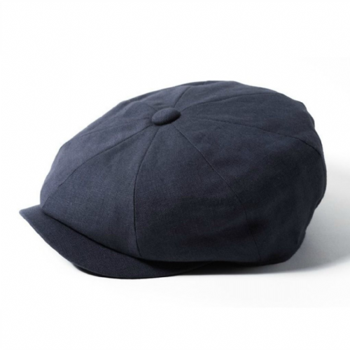 Newsboy Cap Linen - Failsworth Alfie - Blue